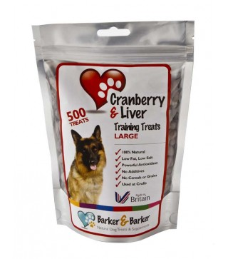 Large Cranberry & Liver Treats - Pouch of 550 (net 550g)