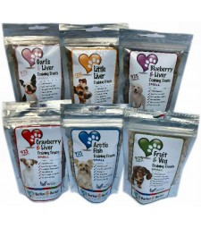 6 pouches of small treats - (Net 1638g -- Save £18.36)